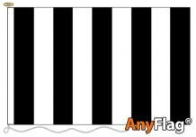 - BLACK AND WHITE STRIPED ANYFLAG RANGE - VARIOUS SIZES